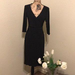 Ladies black wrap dress